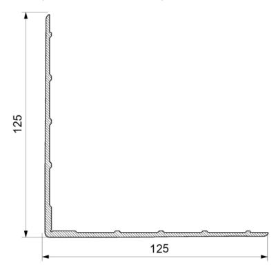Уголок окантовочный 125х125