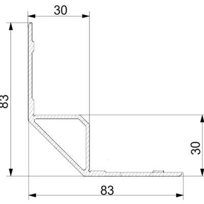 Профиль алюминиевый 83х83